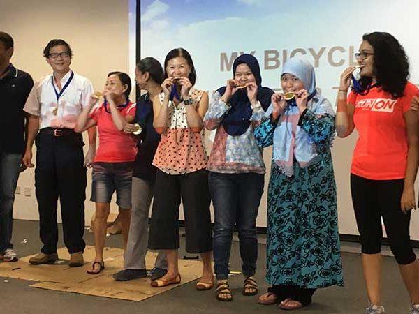 Winning staff group.