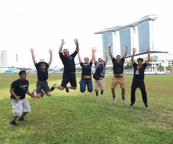 Staff group.