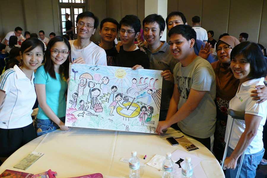 Art group training event.